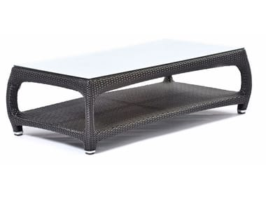 Rectangular coffee table with glass top ALTEA | Rectangular coffee table