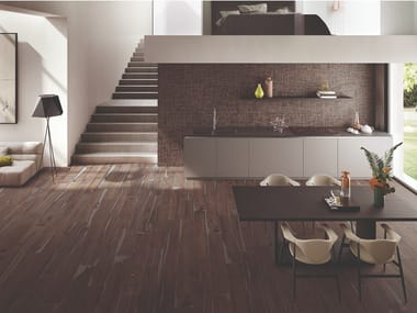 Porcelain stoneware wall/floor tiles with wood effect ALTER BRUCIATO