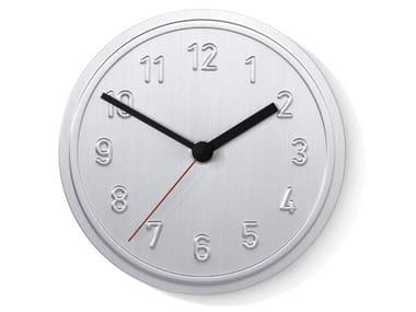 Wall-mounted aluminium clock ALU ALU
