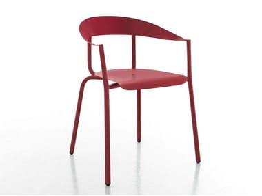 Sedia in alluminio con braccioli ALU-MITO