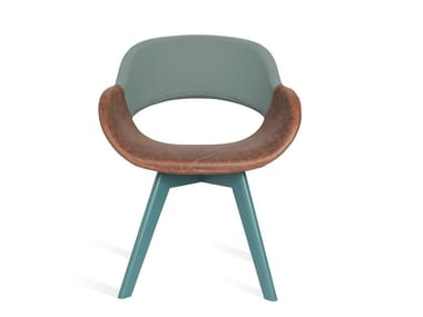 Upholstered chair with armrests ALU