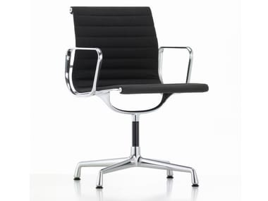 Fabric chair with 4-spoke base with armrests ALUMINIUM CHAIR EA 103