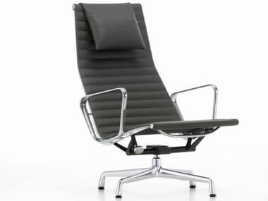 Sedia girevole reclinabile con schienale alto ALUMINIUM CHAIR EA 124