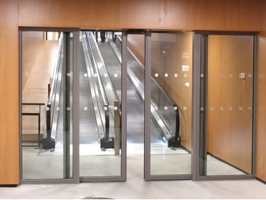 Fire-rated glass sliding door ALUPROTEC | Sliding door