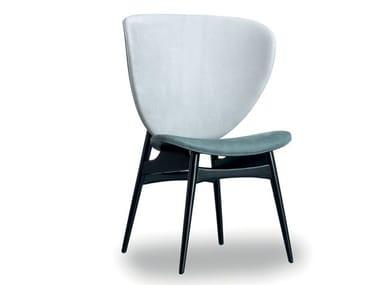 Upholstered leather chair ALVARO