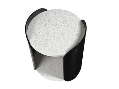 Tavolino in metacrilato nero ALVIN