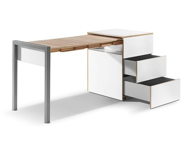 Extending table with drawers ALWIN'S SPACE BOX | Extending table