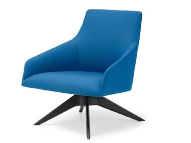 Fabric armchair with armrests ALYA BU1524