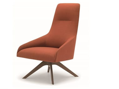 Swivel high-back fabric armchair ALYA  BU1521