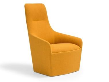 High-back fabric armchair ALYA BU1530