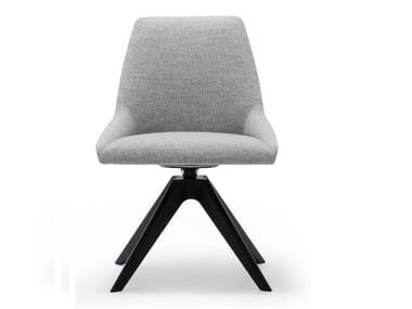 Swivel upholstered fabric chair ALYA SI1551