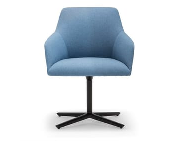 Swivel chair with 4-spoke base with armrests ALYA SO1532