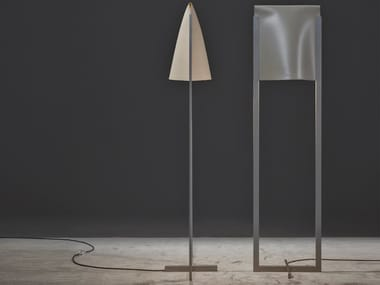 LED tanned leather floor lamp AMAL | Floor lamp