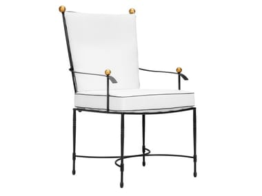 Stainless steel garden chair with armrests AMALFI | Chair with armrests
