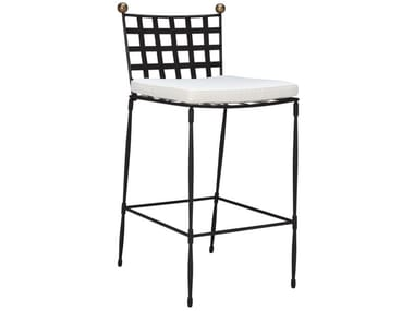 High stainless steel stool with back AMALFI | High stool