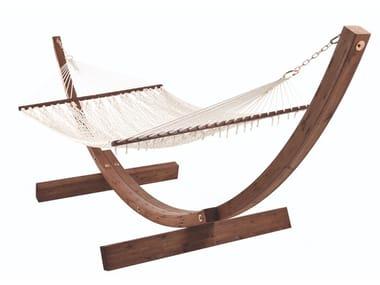 Laminated wood hammock and cotton net AMANDA