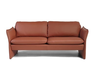 3 seater leather sofa AMARETTO