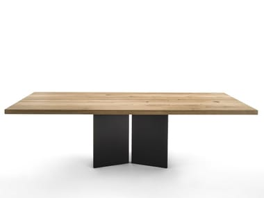 Rectangular wooden table AMBO
