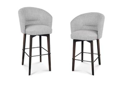 High fabric stool with armrests AMÉLIE | Stool