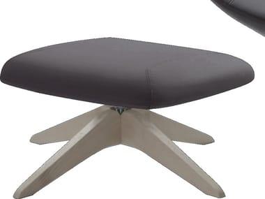 Fabric footstool with 4-spoke base AMELIE OTTOMAN