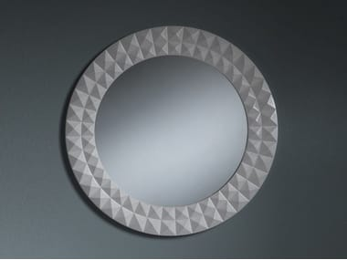 Round wall-mounted framed mirror AMINA