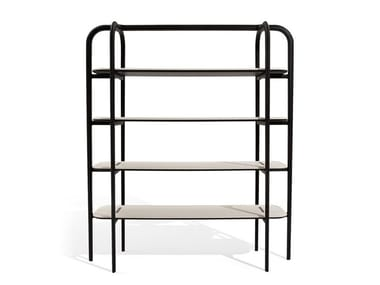 Open wall-mounted ash bookcase AMIRAL | Bookcase