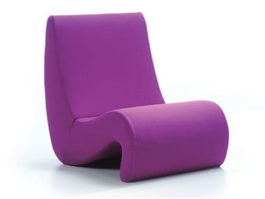 Fabric armchair AMOEBE