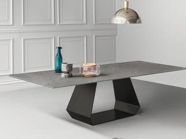 Rectangular ceramic table AMOND | Ceramic table
