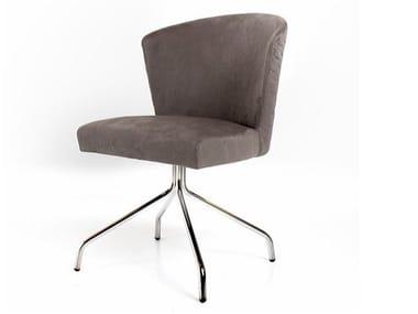 Upholstered trestle-based chair ANASTACIA | Trestle-based chair
