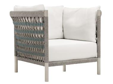 Olefin rope armchair with armrests ANATRA | Armchair