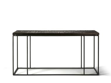 Rectangular teak console table ANCESTORS TABWA | Console table