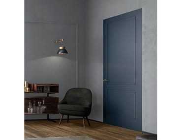 Hinged flush-fitting wooden door AND | Flush-fitting door