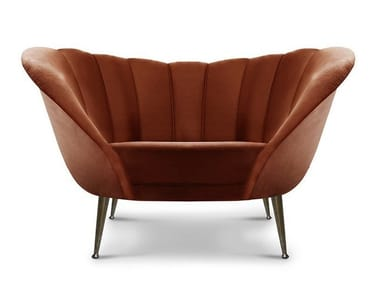 Velvet armchair ANDES
