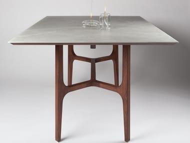 Tavolo rettangolare in legno e marmo ANDRA