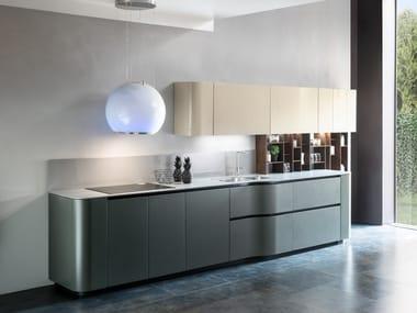 Linear Dekton® kitchen ANDROMEDA CURVY