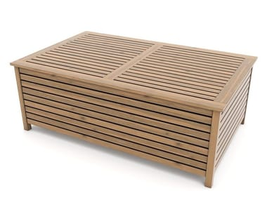 Tavolino basso in abete con vano contenitore ANDROMEDA | Tavolino