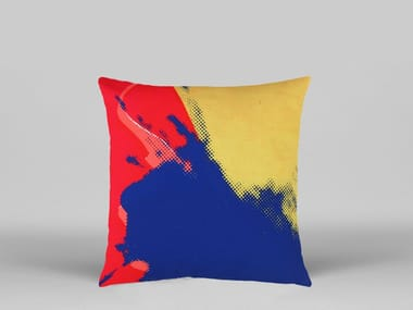 Motif pop art square fabric cushion ANDY WARHOL - AW06