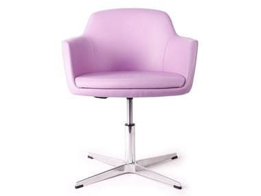 Chair with 4-spoke base with armrests ANEMONE