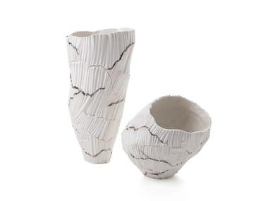 Vaso in porcellana ANEMOS PLATINUM