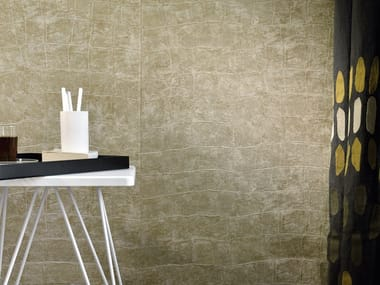 With leather effect washable vinyl wallpaper ANGUILLE