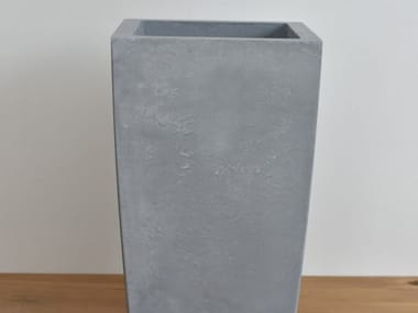 Concrete garden vase ANGULAR
