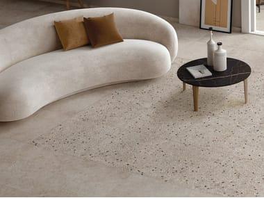 Pavimento/rivestimento in gres porcellanato effetto pietra per interni ed esterni ANIMA