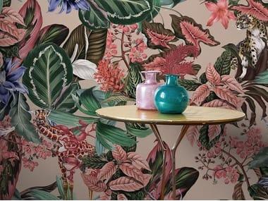 Digital printing wallpaper with floral pattern ANIMALIA