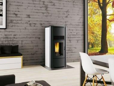 Pellet steel stove Class A++ ANITA IDRO