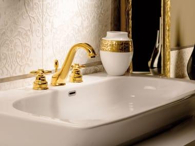 Rubinetto per lavabo a 3 fori da piano ANTEA | Rubinetto per lavabo a 3 fori