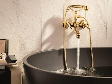 2 hole wall-mounted bathtub tap with diverter ANTEA | Bathtub tap