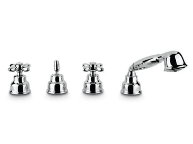 Set vasca a 4 fori con doccetta ANTEA | Set vasca con doccetta