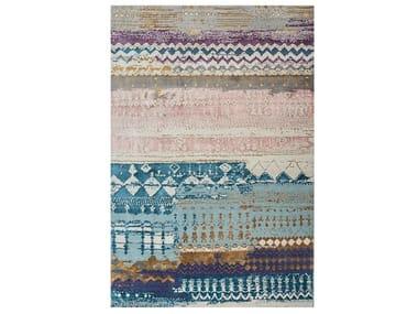 Handmade rectangular rug ANTHAR ESK-663 Sea Mist Green/Inkberry