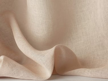 Solid-color linen fabric for curtains ANTIBES