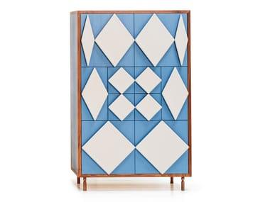 Wooden highboard ANTIGUA | Highboard